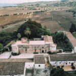 vista aerea castello drone
